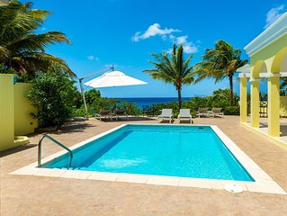 Completely remodeled Oceanfront Villa, full AC, Pool, Beautiful Views , diving