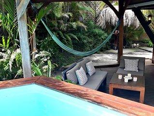 Petite Villa de charme  independante avec Piscine privee et jardin tropical a 3