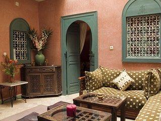 Marrakech Médina - Loué en exclusivité - Personnel et transfert aéroport inclus