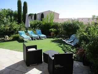 Appt climatisé 3P RDJ dans résidence avec piscine à St Aygulf