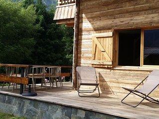 Chalet individuel avec terreasse et jardin privé, proximite du lac d'Annecy