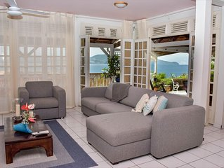 Your lodging with a view of the bay in Fort de France
