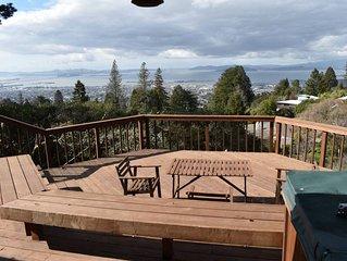 Breathtaking Bay Area Views in Berkeley Hills Next to Tilden Park