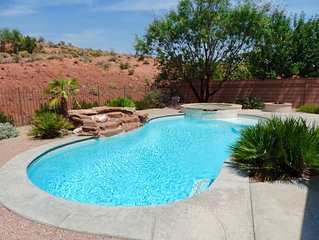Perfect Pool Home/Spa In Red Desert Near Zion, Parks, & Golf