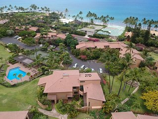 1 Bedroom 2 Bath Top Floor corner unit Panoramic Ocean View Wailea Ekahi Village
