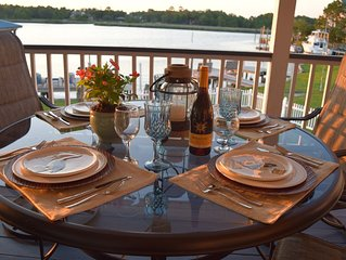 Casual Waterfront Living With Private Dock! Location minutes to Beach.