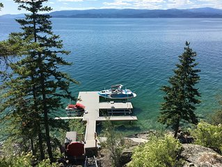 Luxuruious Flathead Lake Vacation Rental Home With Spectacular Views