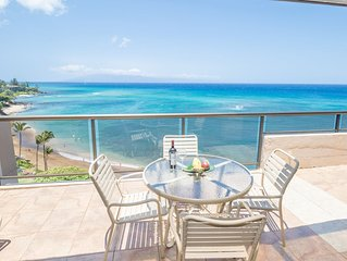 Huge Oceanfront Penthouse with Pano Views - AC,Spa Tub, Wifi