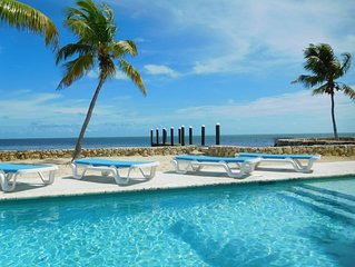 Private 150 Ft Oceanfront 2 Acre Millionaire Row Estate Saltwater Pool Spa Dock