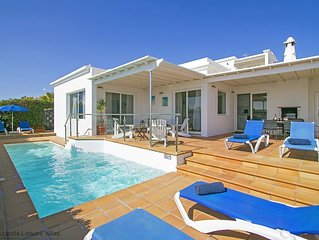Villa Benedicte:  luxury detached villa with private heated pool, gorgeous sea v