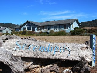 Serendipity - Breathtaking oceanviews with beach access path steps away.