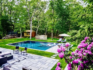 Perfect Family Retreat- Sunny, Quiet, Walk to water. New, Heated Saltwater Pool!