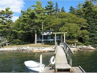 Classic Maine Waterfront Cottage w/ Deepwater Dock