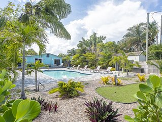 Wilton Manors Tropical Oasis 3/2 HEATED Salt H2O Pool 15 mins to Beach!!