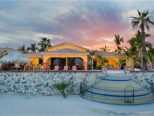 Welcoming Beach Front Hacienda Located In Town, Walking Distance To Everything.