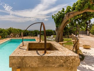 AUTHENTIC SICILIAN CHARM ( with pool, sea view, free wi-fi and parking)