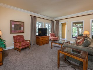 OVER-SIZED 2 BR UNIT STEPS TO POOL & COURTYARD!!!