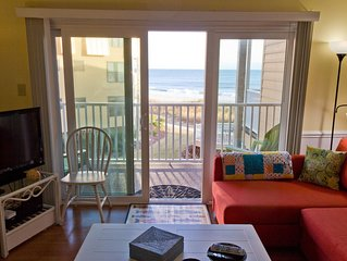 You deserve a sweet beachfront retreat! Great views, steps to beach.