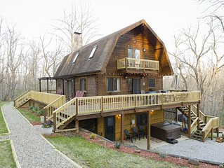 'The View' at Nature's Harmony Cabin.  Trails, tree house, frog pond, game room