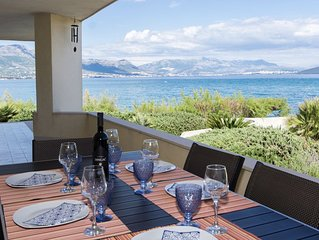 Beachfront villa with great views between Trogir and  Split, New Rates!