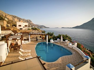 Luxury Waterfront Vacation Villa in Kalymnos, Greece with Private Pool