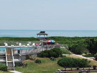 End unit with wonderful ocean views!