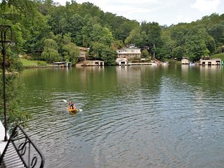 Lake Lure Waterfront( no cleaning/mgmt fees!)3 m. From town, WIFI