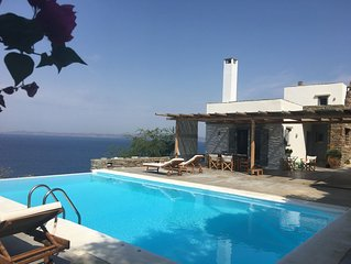 House with character and splendid sunset view over the Aegean sea