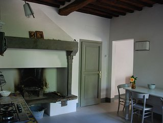 Luxury apartment with private garden on the walls of Chianti XII Century Castle