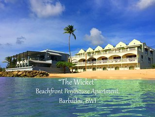 West Coast Luxury Beachfront Penthouse Apartment Speightstown Barbados, Full A/C