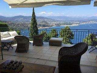Villa vue mer exceptionnelle avec piscine chauffée