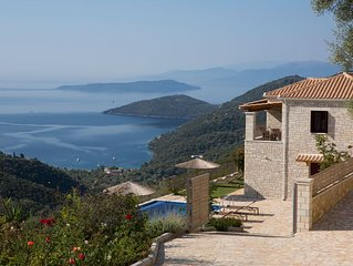 New stone villas with outstanding view and private pools