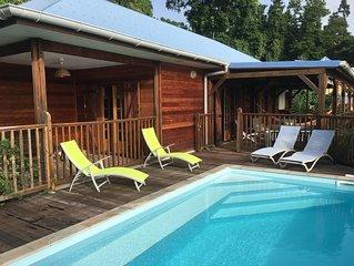 Villa de vacances 10 personnes avec piscine privée, à Bouillante en Guadeloupe