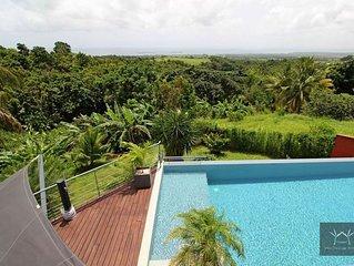 Villa d'architecte avec vue mer panoramique - piscine et 2 jacuzzis privées