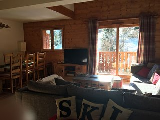 Spacious 4 bed ski apartment on the slope