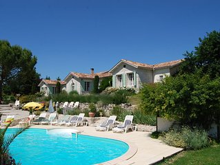 Large Luxury Villa with private heated Pool, Jacuzzi & Sauna for up to 25people