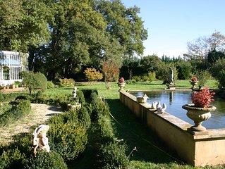 Gites dans un magnifique domaine avec un parc et des animaux