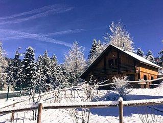 Chalet de Jeanne avec WIFI, JACCUZI & SAUNA privatif à 2min des pistes de ski