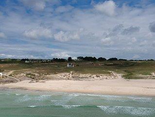Maison  bretonne **** au bord de l'océan dans les dunes de trez goarem