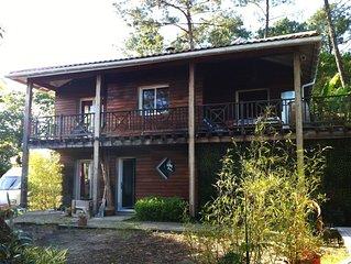 Charmante maison en bois à deux pas de l'océan