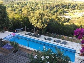 Maison Corse Pleine Vue Mer-Piscine à débordement