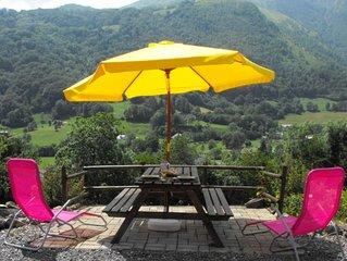 Agréable maison Classée 3 Etoiles. Vue panoramique sur les sommets du Val d'Azun