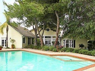 Fallbrook Luxury, 4 Bedrooms + Guesthouse, Heated Pool/Spa, Vineyard/Hill Views