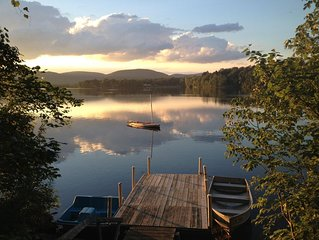 Spacious Berkshire Summer Rental, Private Dock on Lake 3 BR/2b