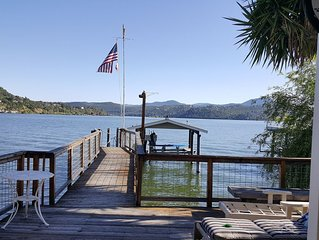 Waterfront home with dock  Great Bass Fishing!!!!