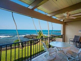 Direct Oceanfront Condo Kailua-Kona 1bedroom, 2bath, Lanai overlooks tide pool