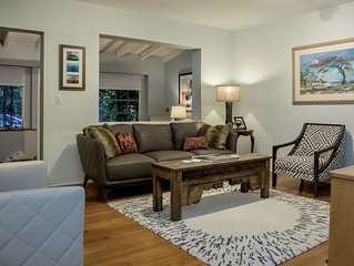 The house sits in quiet  Coconut Grove minutes away from downtown and the bay.