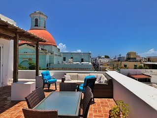 Old San Juan Pent House with amazing terrace