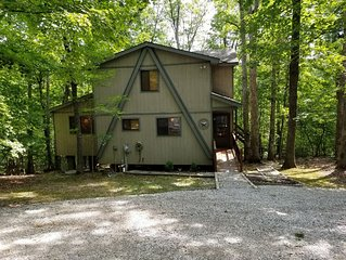 Former display chalet, very private wooded,  3 Bedroom/2 Bath getaway!