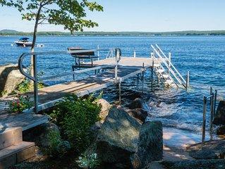 Beautiful Sebago Lake Waterfront Newly Renovated House, Elder Suite, Ramp Access